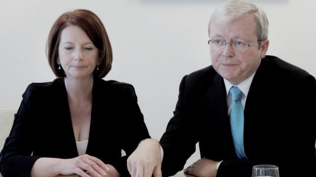 Coups: Labor prime ministers Julia Gillard and Kevin Rudd.