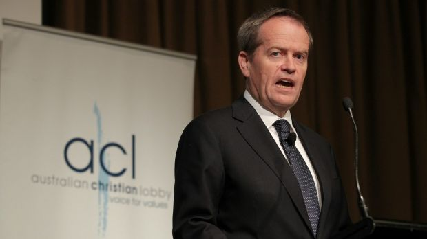 """I believe in God and I believe in marriage equality"": Opposition Leader Bill Shorten addresses the Australian Christian ..."