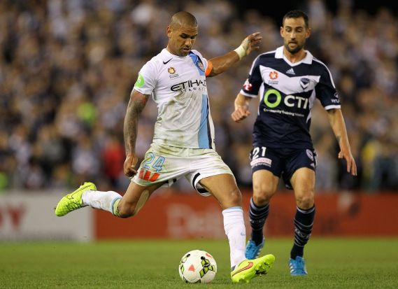 Melbourne City's Patrick Kisnorbo passes the ball.