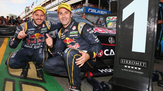 Jamie Whincup and Paul Dumbrell.