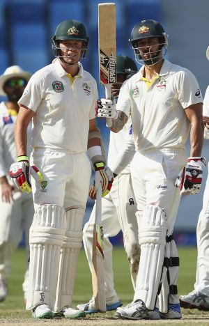 Mitchell Johnson top-scored for Australia in the second innings with 61.