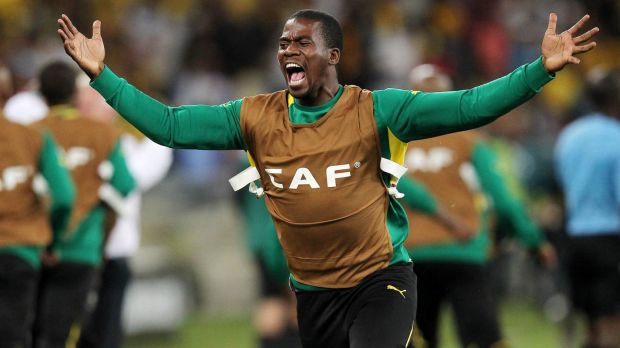 South Afrrica's goalkeeper and captain Senzo Meyiwa.