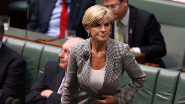 Foreign Affairs minister Julie Bishop on Monday.