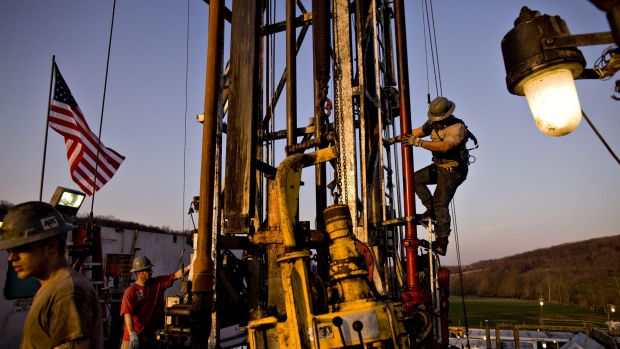 A Chesapeake Energy Corp natural gas drill site in the US.