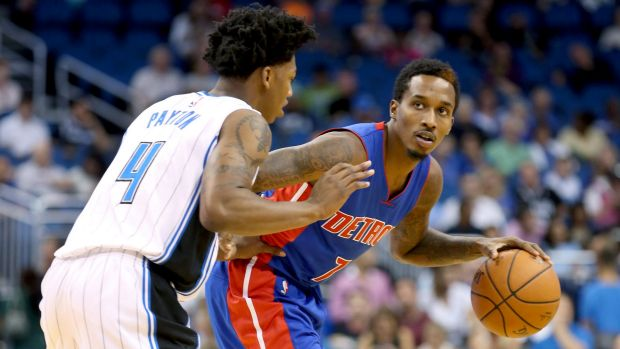 Pressure to perform: Pistons point guard Brandon Jennings.