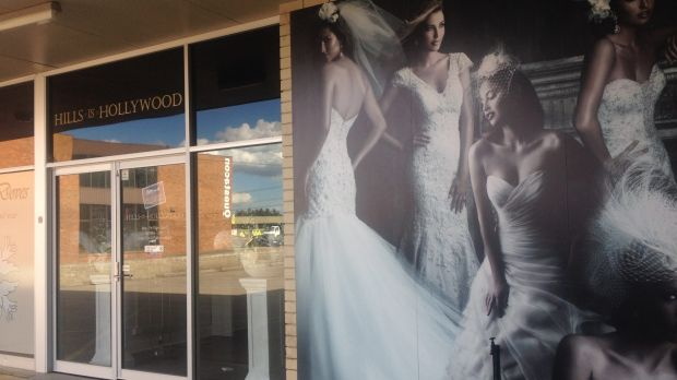 Closed: Canberra's Hills in Hollywood bridal store.