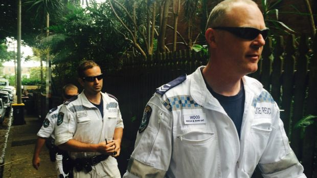 Concern: Police Rescue officers arrive at the Randwick unit block to check on the welfare of the man who took in ...