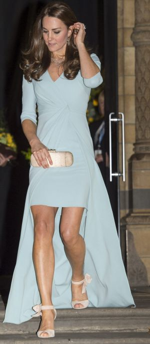 The Duchess of Cambridge broke the style rules set by the Queen by showing off her knees at an official function.