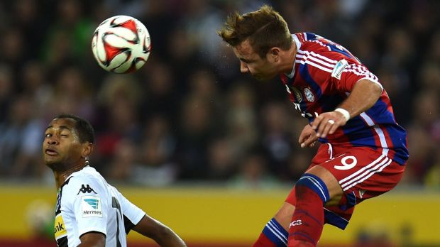 In good company: Germany and Bayern Munich's Mario Goetze.