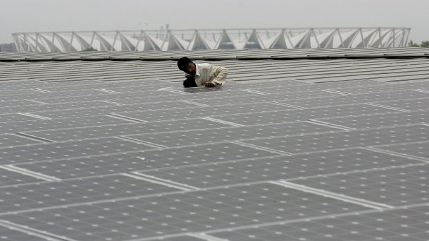 Solar panels are becoming more viable for Indian IT businesses.
