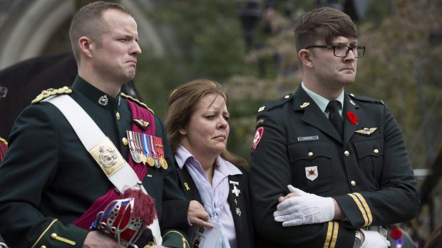 Kathy Cirillo, mother of Nathan Cirillo, after her son's funeral service.