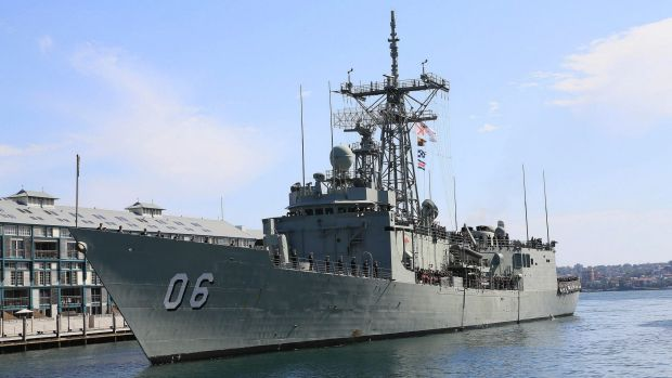 HMAS Newcastle was off Western Australia when the incident allegedly took place.