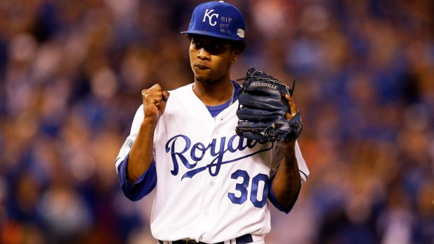 Yordano Ventura was brilliant allowing just three hits while striking out four with five walks.