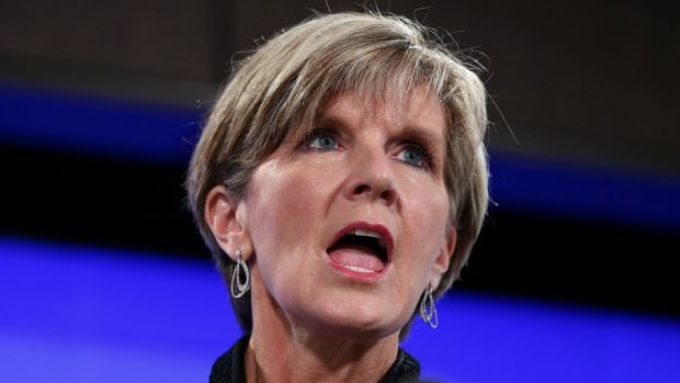 Julie Bishop addresses the National Press Club of Australia.