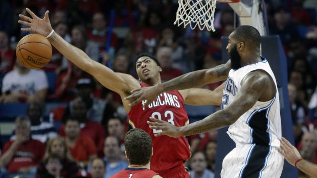 Dominant: Anthony Davis was a beast for New Orleans against Orlando.