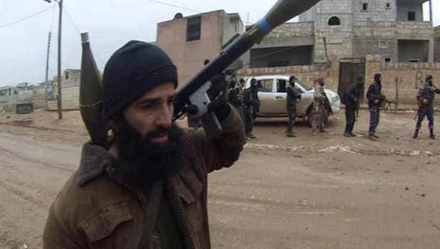 A photo claiming to be of Mohammad Ali Baryalei fighting with Islamic State.