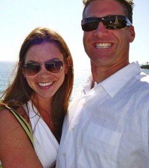Newlyweds: Brittany with her husband Dan Diaz.
