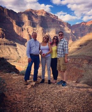Photo of Brittany Maynard and her family at the Grand Canyon.