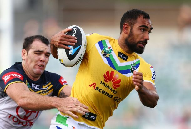 Reece Robinson in the Raiders' yellow jersey to raise funds for charity.