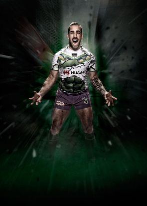 Paul Vaughan in Marvel's Hulk jersey for the Raiders.