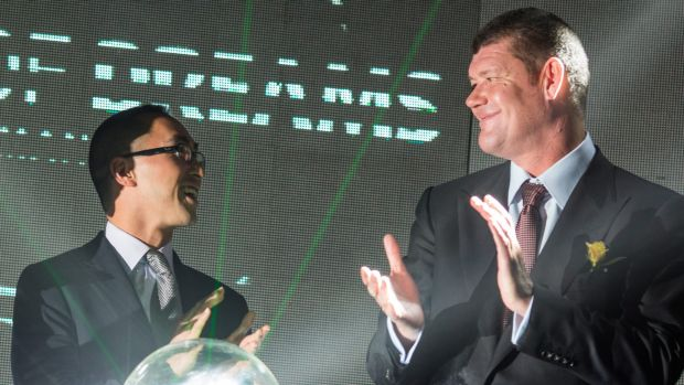 No crystal ball: James Packer and his business partner Lawrence Ho. Analysts have been caught off-guard by the impact of ...