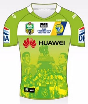 Canberra Raiders heritage jersey commemorating the club's first premiership.