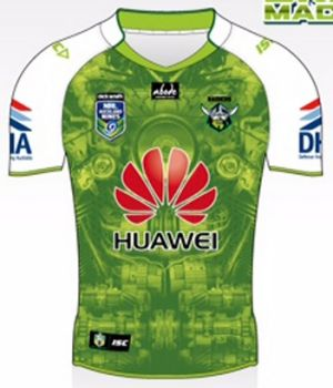 "The Canberra Raiders ""Green Machine"" Auckland Nines jersey."