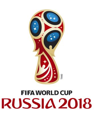 The logo of the 2018 World Cup, which will be held in Russia.