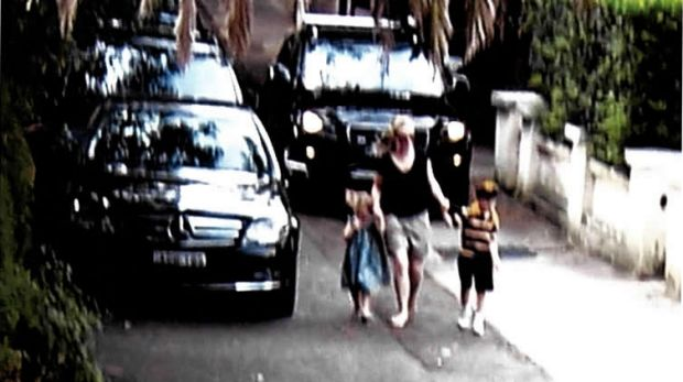 """An image from the court judgment showing pedestrians """"in conflict with a vehicle driving along the footpath element of ..."""