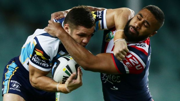 In strife: Gold Coast winger James Roberts.