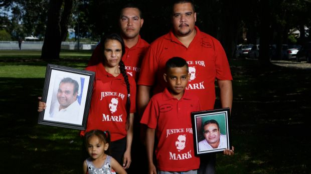 Aboriginal father-of-four Mark Mason was shot dead during a police operation in November 2010. Pictured are Mark Mason's ...