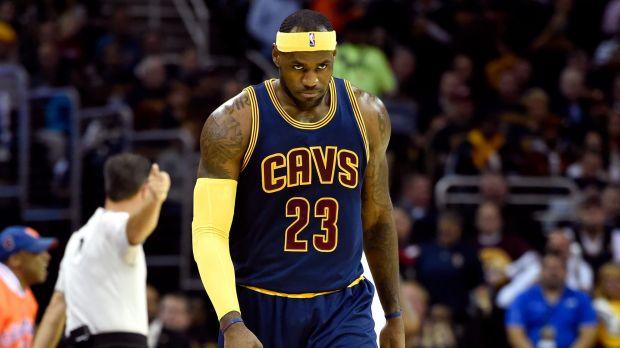 Unhappy homecoming: LeBron James.