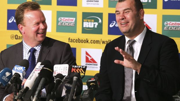All smiles: Despite the changes, Australian rugby is still in a right royal mess.
