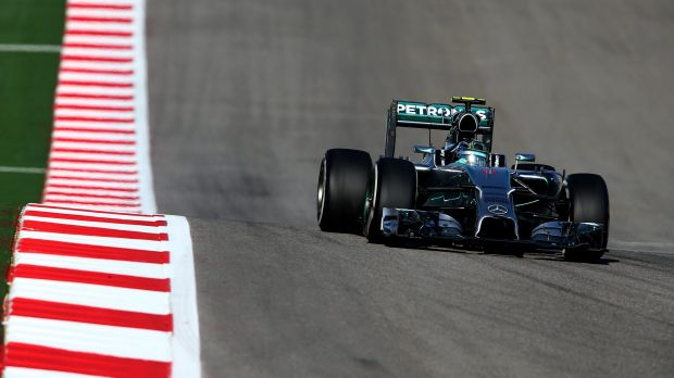 Nico Rosberg held off teammate Lewis Hamilton to claim pole.