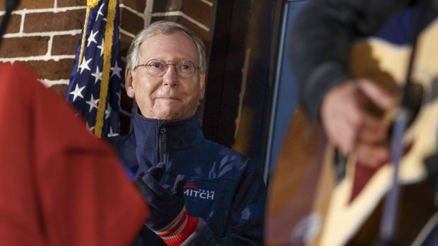 Leading man?: Mitch McConnell, who will become Senate Majority leader if Republicans win and he can hold his own seat, ...