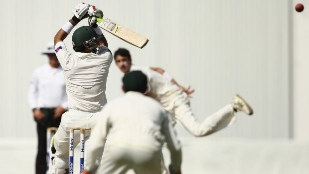 Punished: Misbah-ul-Haq decimated the Australian attack.