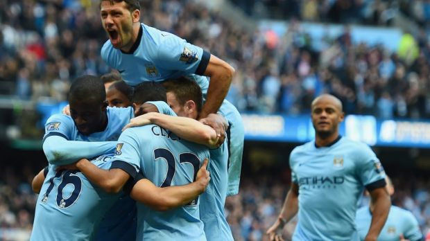 Bragging rights: Manchester City ended their patch of poor form with a derby win.