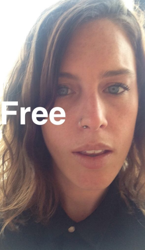 A Snapchat selfie of Australian tourist Kylie Bretag, taken after her release from a Mexican detention centre and sent ...