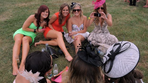 Wish you were here: Racegoers are likely to want to post pictures online for all to see.