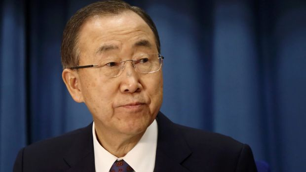 UN chief Ban Ki-moon says time is running out to act on climate change.