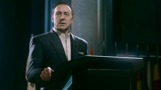 Kevin Spacey turns in a great performance as the head of a private military company.