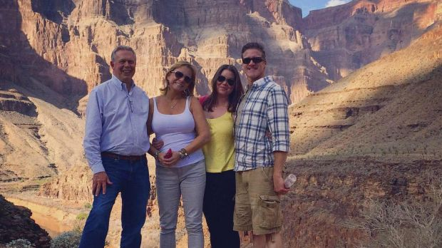 Brittany Maynard (second from right) is pictured at the Grand Canyon with her stepfather Gary Holmes (left), mother ...