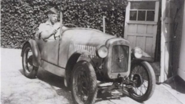 Austin powered: Peter  Thorne, aged 14, in his Austin Seven.