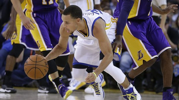 Taking control: Steph Curry is a constant offensive threat for the Warriors.