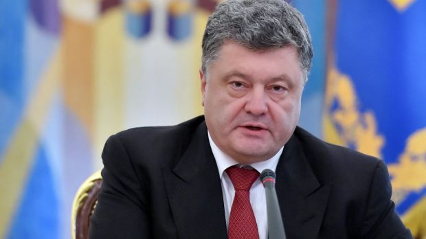 Ready for battle: Ukrainian President Petro Poroshenko.