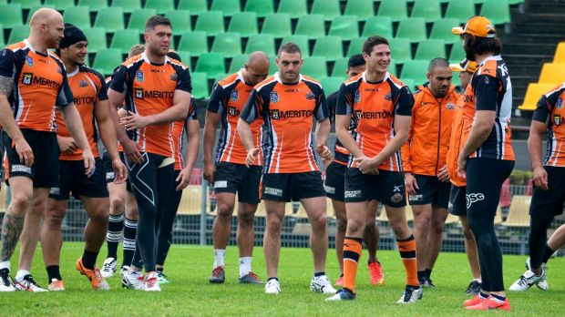 Walking wounded: Wests Tigers have a depleted squad for pre-season training.