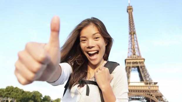 Visit the Eiffel Tower and then log in to start work back in Australia.
