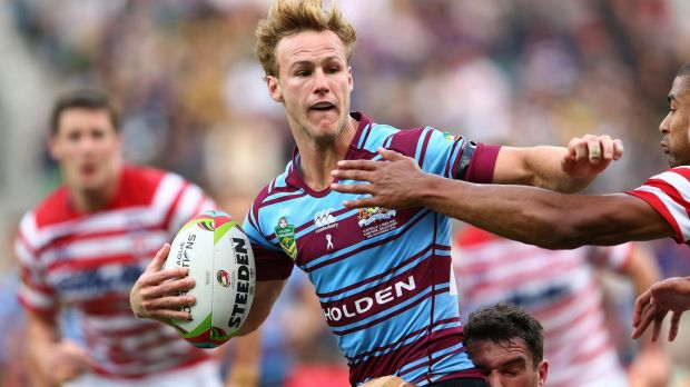 Right direction: Daly Cherry-Evans takes on the line during the Test against England.