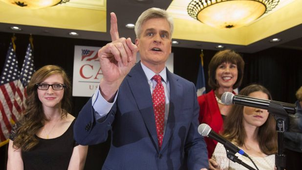 Republican Bill Cassidy addresses supporters after the results of the midterm elections in Baton Rouge, Louisiana.