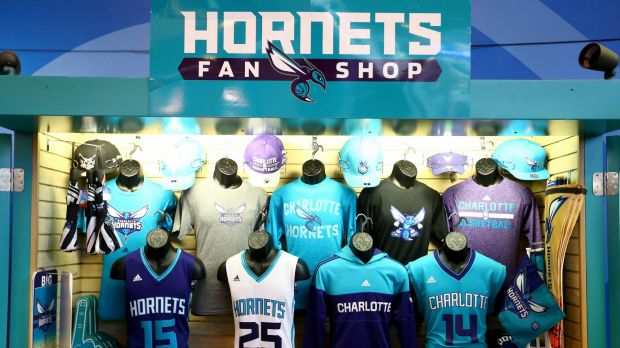 Hot items: Merchandising has been a strong revenue earner for the Hornets.